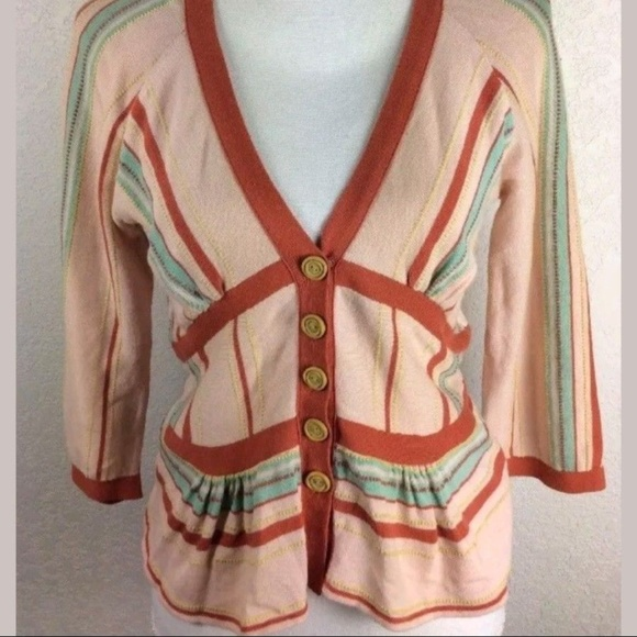 Anthropologie Sweaters - Guinevere Anthropologie 3/4 Sleeve Peplum Cardigan